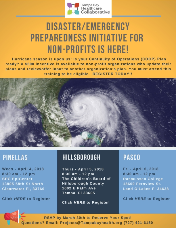 Disaster/Emergency Preparedness Initiative for Non-Profits - Pasco County